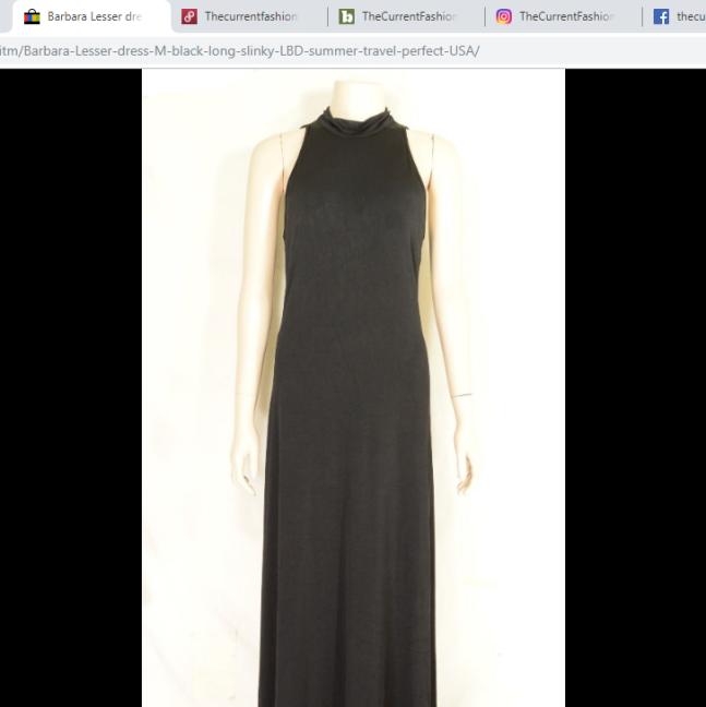 Barbara Lesser dress M black long USA