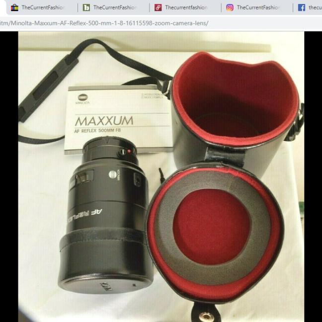 Minolta Maxxum AF Reflex 500 lens